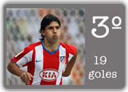 Kun Agüero Pichichi 2007 2008 - 19 Goles